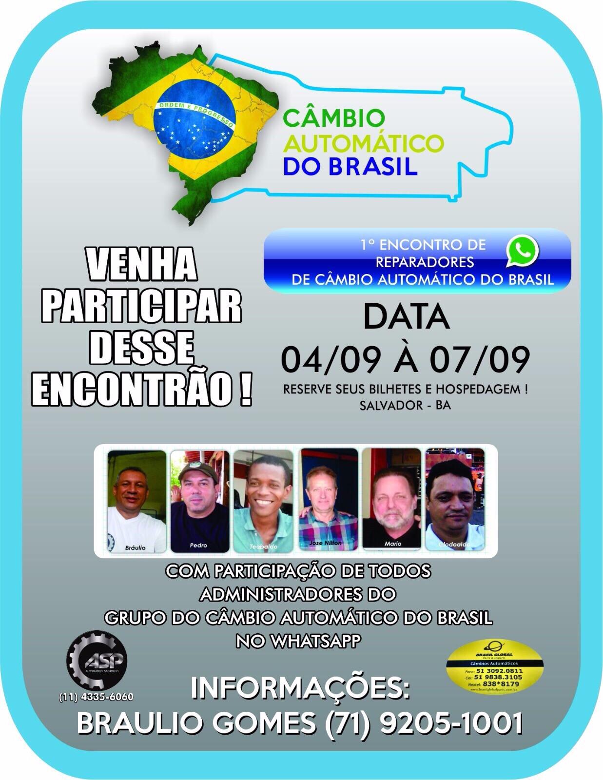 1º ENCONTRO DO CÂMBIO AUTOMÁTICO DO BRASIL EM SALVADOR - BA
