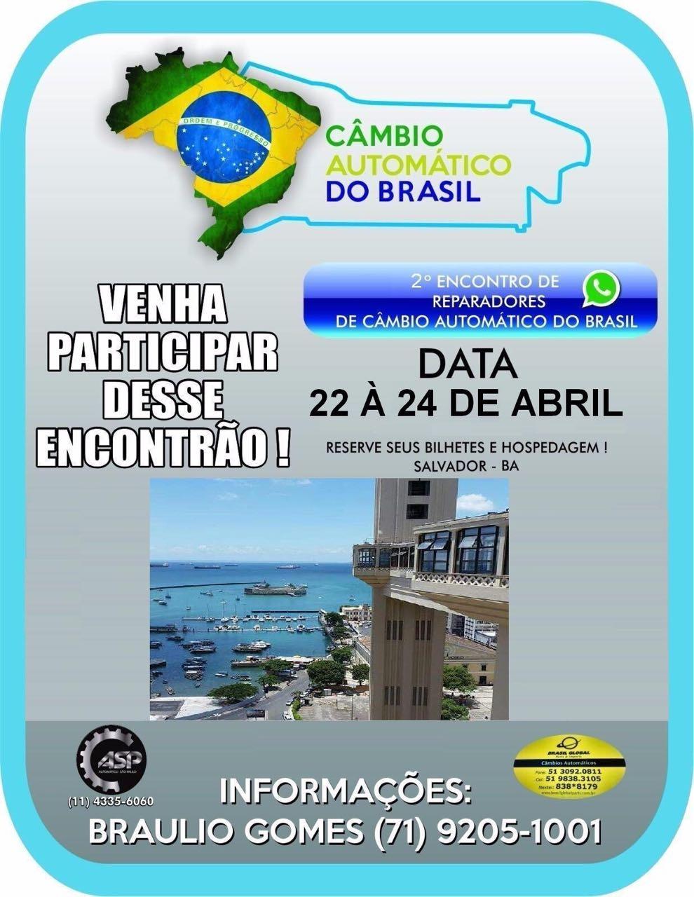 2º ENCONTRO DO CÂMBIO AUTOMÁTICO DO BRASIL EM SALVADOR - BA